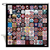 CafePress This Captain America 75Th Decorative Fabric Shower Curtain (69''x70'')