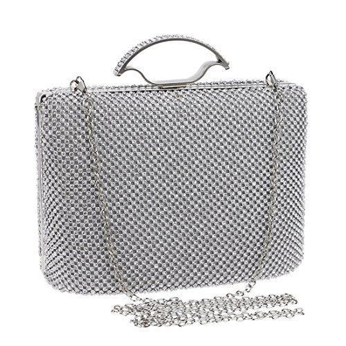 Evening Bag Silver Portable Luxury And Dress BLACK Luxury Fly53 bag Ladies Color American Clutch Bag evening FLY Diamond European Handbag Style Banquet q1AC6Z