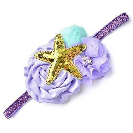 Amazon.com: Diadema de sirena para bebé, niñas, cumpleaños ...