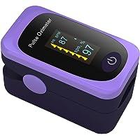 Oxymètre de Pouls Professionnel Oxymètres de Doigt Numérique Capteur d'Oxygène (SpO2) Moniteur de Fréquence Cardiaque Oxymetre Pédiatrique avec l'Écran d'affichage d'OLED Pour Enfant en Adulte