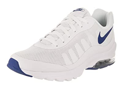 Nike Men's Air Max Invigor White/Gym/Blue Running Shoe 9.5 Men US