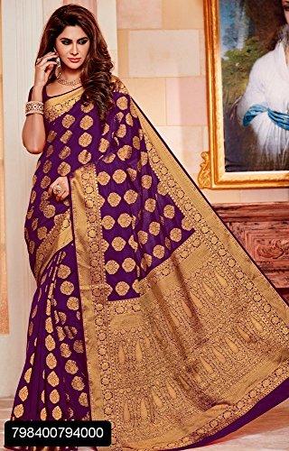 Saree indiano indiano richlook Matrimonio da abito donna partywear latest etnico sposa 2602 Seta tradizionale sari jari 1g45xqF4tw