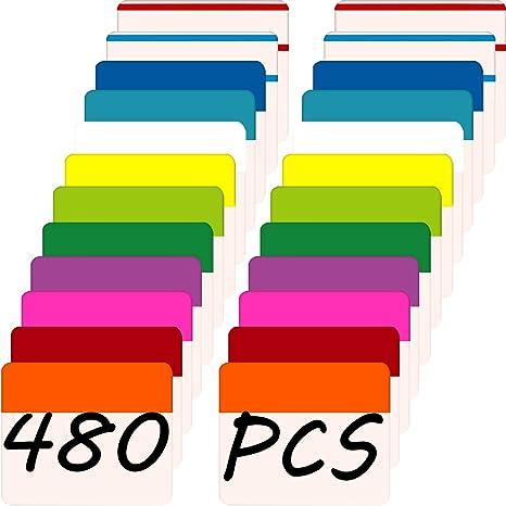 Cinta adhesiva con pestañas de índice de 5 cm, dispensadores de páginas para libros y