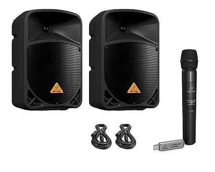 Amazon.com: Behringer b108d Powered Altavoces (Par) 300 W, + ...