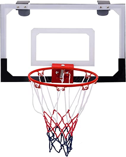Wall Mounted Basketball Board Shooting Ball Game with Ball and Pump Dripex Mini Indoor Basketball Hoop Play Set for kids Office or Bedroom Doors Suitable for Hanging over Home