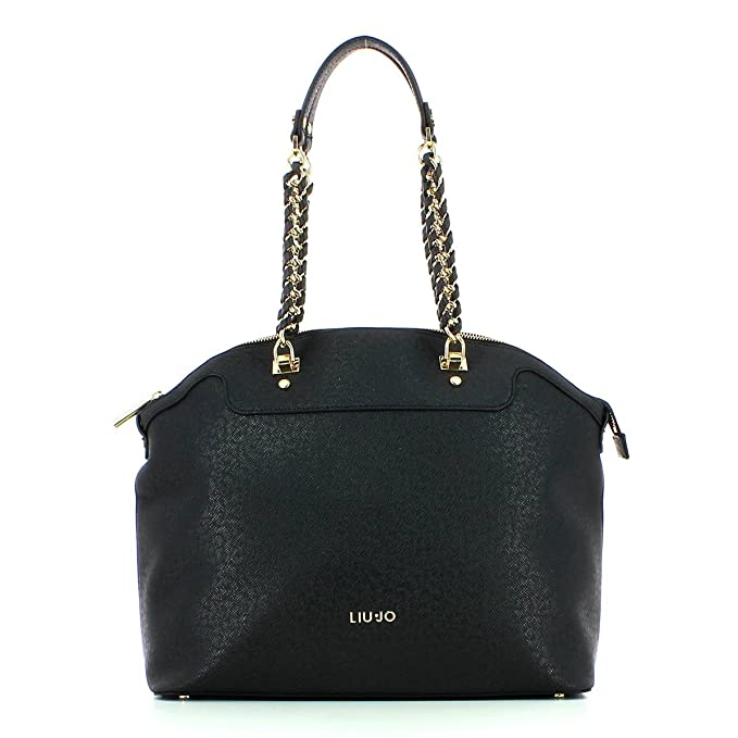 Borsa shopping Liu Jo L anna chain nero  Amazon.it  Abbigliamento 3f505000fc8