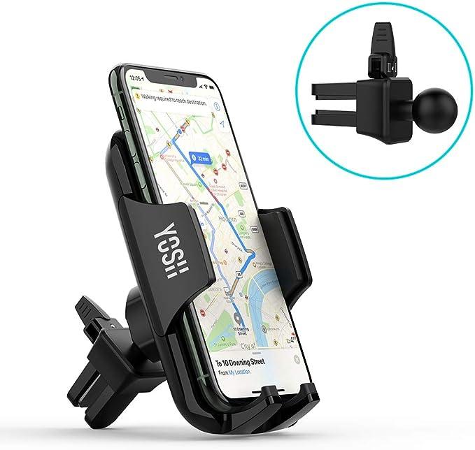 YOSH Support Téléphone Voiture Grille d'aération Rotation 360°sur Ventilation Universel Smartphone pour iPhone 11 XR XS X 8 8P 7 6S Samgsung S9 S8 S7