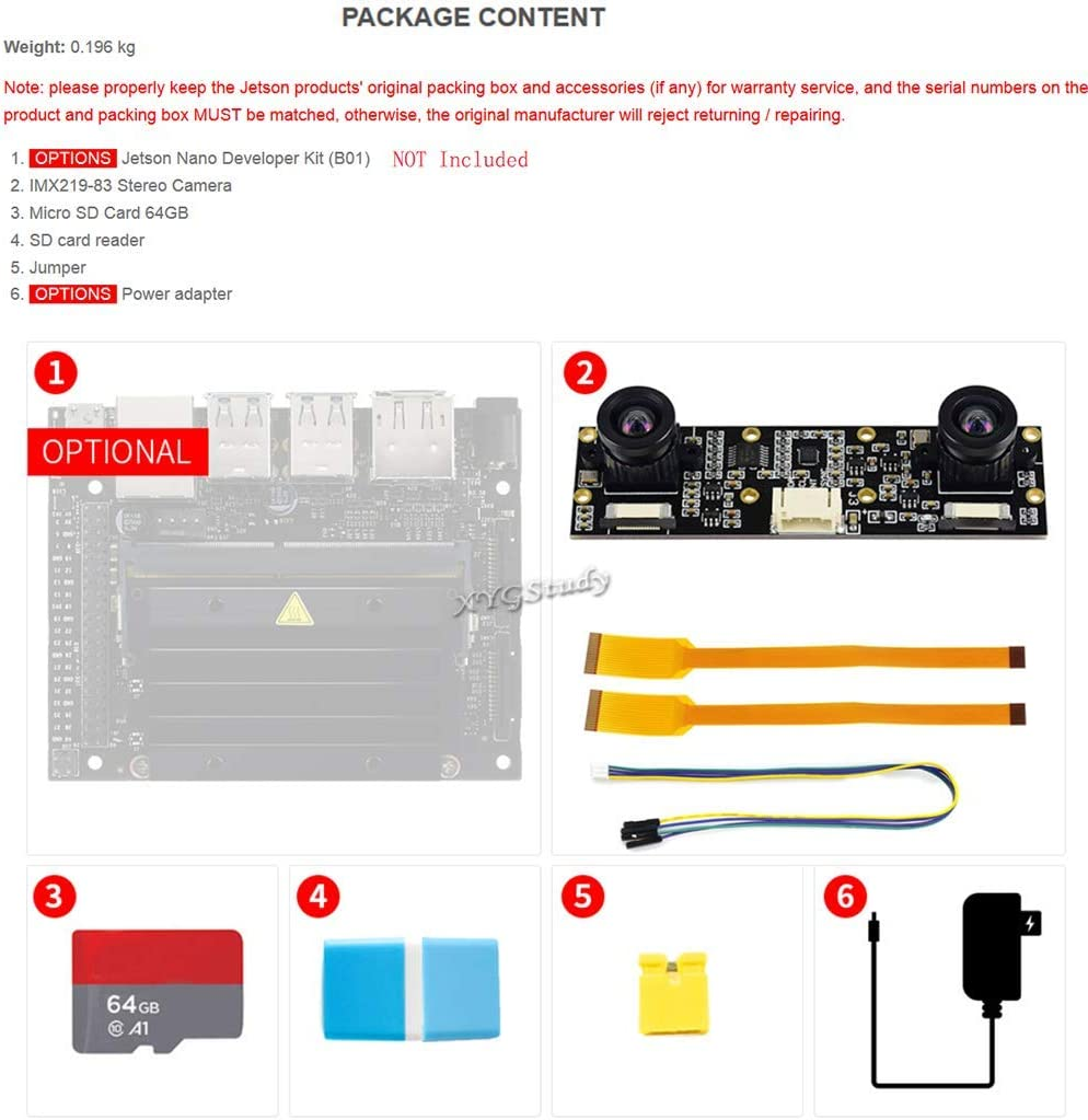 JetRacer AI Kit Accessories for Jetson Nano to Build AI Racing Robot Car with Front Camera Eye Dual Mode Wireless WiFi for Deep Learning Slef Driving Vision Line Following DonkeyCar @XYGStudy