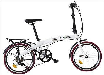 Ecosmo 50,8 cm aleación ligera plegable bicicleta ciudad, 12 kg - 20AF09W