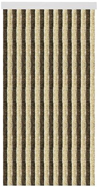 Arsvita Flausch Vorhang (100x215cm) In Der Farbe: Braun Beige, In
