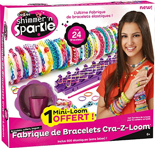 Cra-Z-Art Shimmer 'n Sparkle Cra-Z-Loom Bracelet Maker make rubber band bracelets