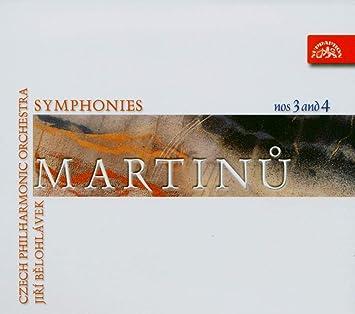 マルティヌー:交響曲第3番、第4番 (Martinu,B. Symphony Nos 3 and 4/CPO/J.Belohlavek)