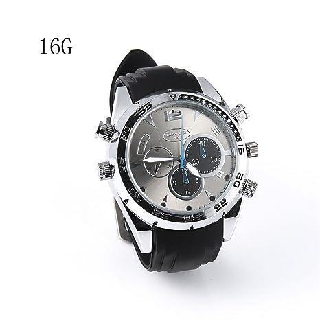 Reloj Impermeable Full HD 1080P 1920 × 1080P Cámara espía Reloj Impermeable Mini DV caché Visión