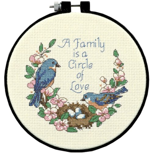 Love Counted Cross Stitch Pattern - Dimensions Needlecrafts Counted Cross Stitch, Family Love