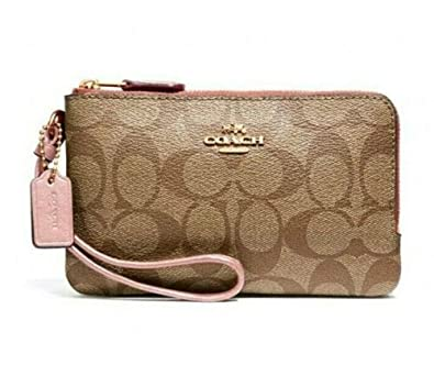 Amazon.com: COACH F87591 Signature - Cartera de muñeca de ...