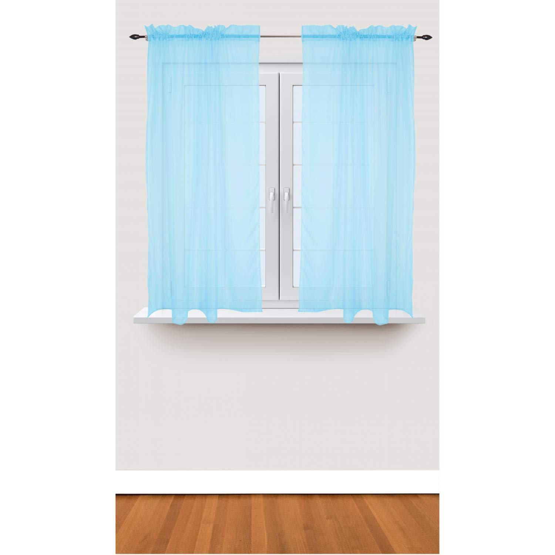 140 x 175 cm TupTam Cortinas Transparente para Habitaci/ón Infantil Blanco