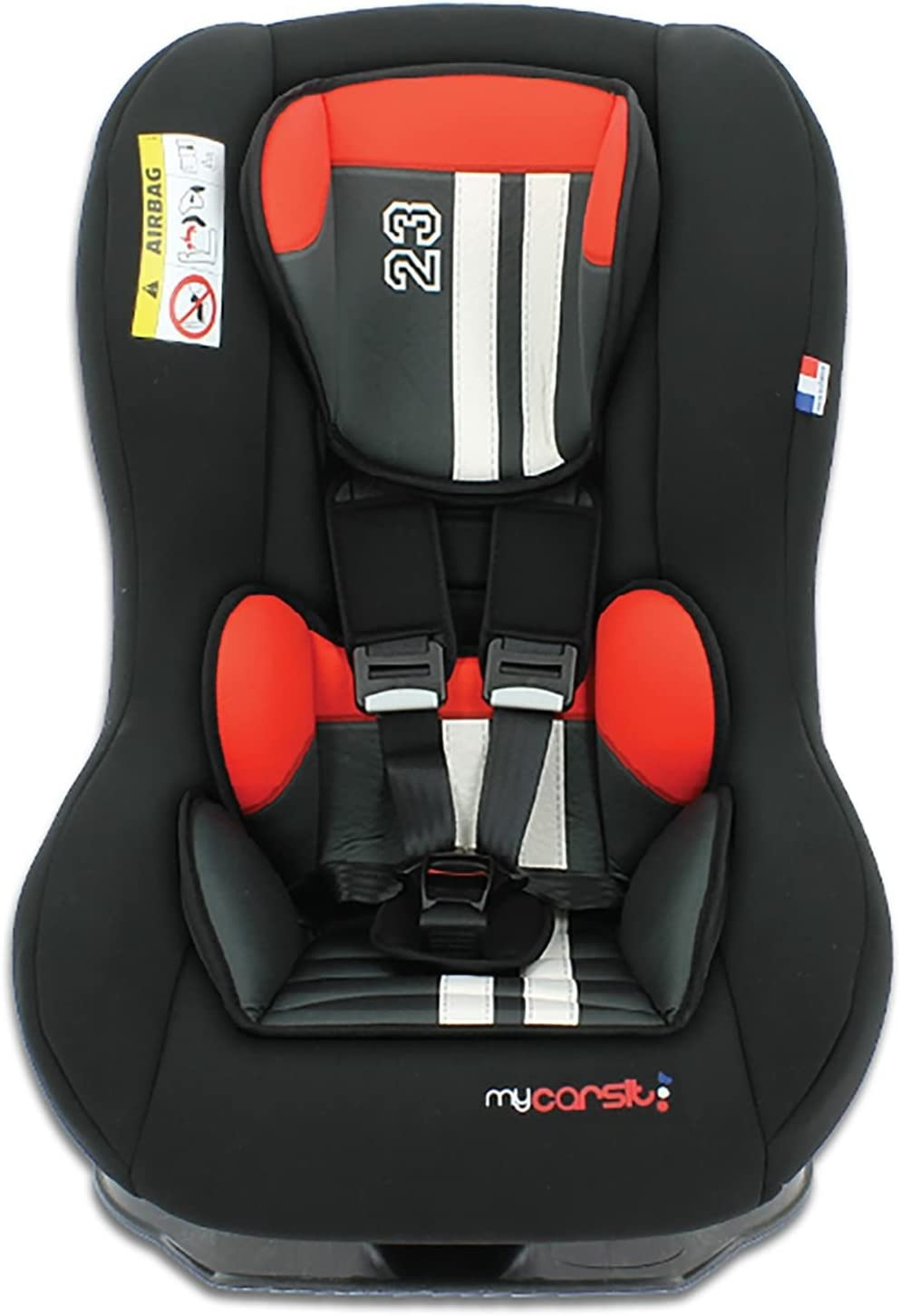 Nania Custo Collection Driver Group 0+//1 Infant Car Seat Red//Black Mustang