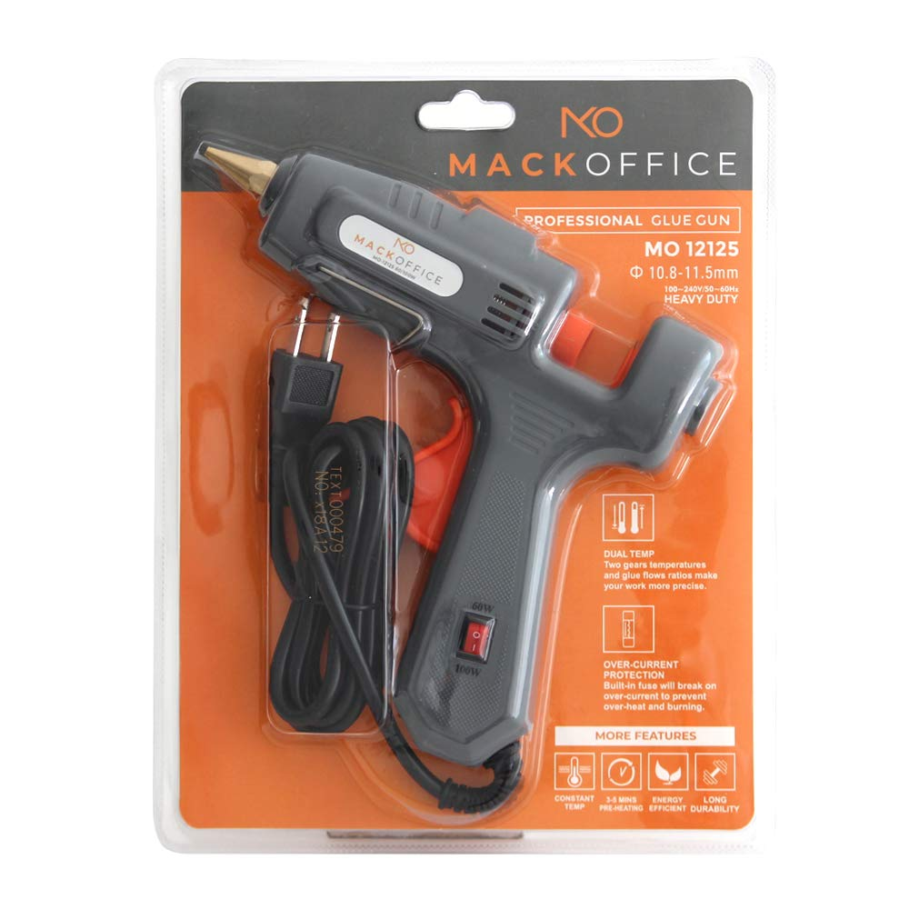 MackOffice Professional Glue Gun Full Size (Not Mini) Hot Melt Glue Gun 60/100W Dual Power High Temp Heavy Duty Melt Glue Gun best for Work | Home and for Arts & Crafts Use,Christmas Decoration/Gifts by MACKOFFICE (Image #6)