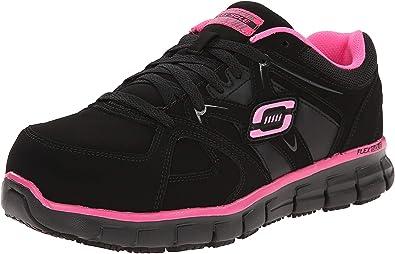 estas Remontarse Ubicación  Amazon.com: Skechers Synergy Sandlot - Zapato de trabajo para mujer con  agujetas.: Shoes
