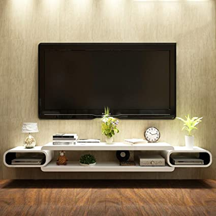 Amazon com: FLYSXP Wall-Mounted Floating Modern Entertainment Center