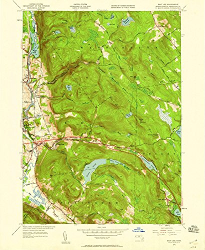 Massachusetts Maps | 1945 East Lee, MA USGS Historical Topographic Map |Fine Art Cartography Reproduction - Massachusetts Map Lee