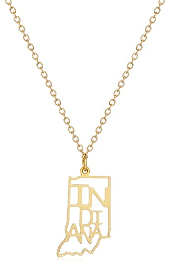 09ea2f3773e06 Kris Nations State Necklace, 18
