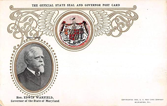 Governor State Of Maryland Seal Antique Postcard K7876324 At
