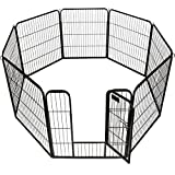 New 40'' X 31'' 8 Panel Heavy Duty Pet Playpen Dog Exercise Pen Cat Fence