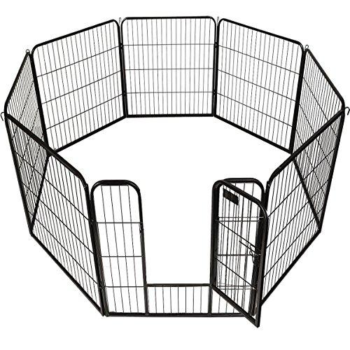 Cheap New 40″ X 31″ 8 Panel Heavy Duty Pet Playpen Dog Exercise Pen Cat Fence