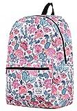 Classic Girls College School Travel Backpacks Book Bag | PolkaFloral