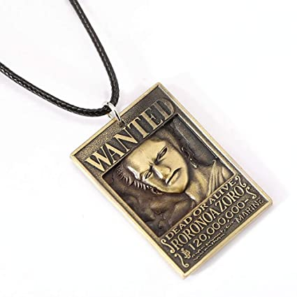 Amazon.com: Algol - ONE PIECE Wanted Poster Necklace Roronoa ...