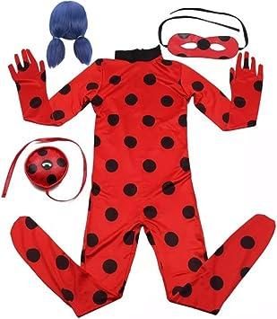 EMIN Niño Disfraz de Miraculous Ladybug de Vestuario Costume ...