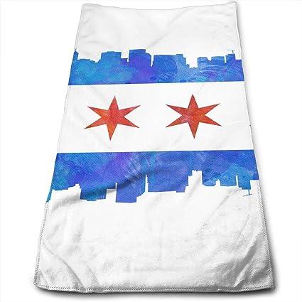 HFXFM Chicago - Toalla de Mano para baño, Piscina, Playa, Toalla de Viaje