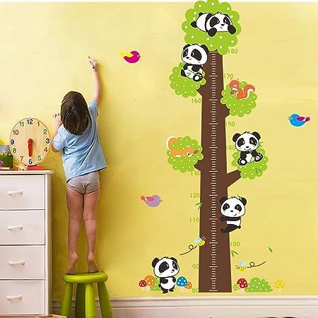 0Cm-180Cm ufengke/® Mignon de Bande Dessin/ée Chat Lion Panda Toise Stickers Muraux La Chambre Des Enfants P/épini/ère Autocollants Amovibles