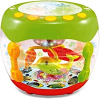 Yuvraj Trading Kids Musical Aquarium Flash Drum with Lights and Songs, Interactive Toy for Babies