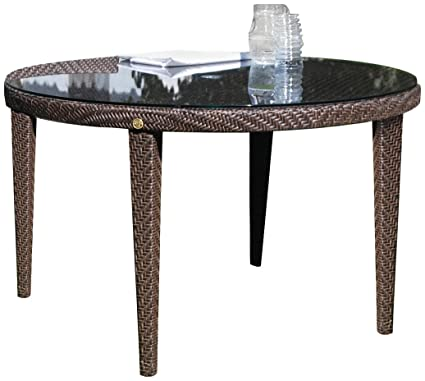 Hospitality Rattan Soho Patio Woven Round Table, 47u0026quot;