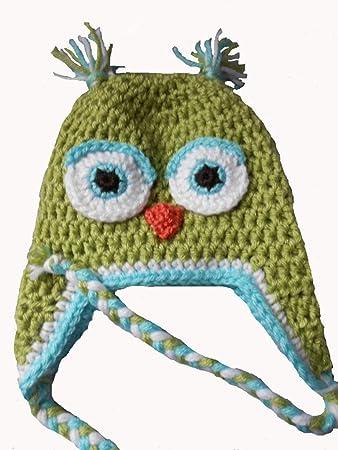 620c5dd0df4 Amazon.com  Sweet Lullabiez Handmade Sweetpea Green   Aqua Blue Owl ...
