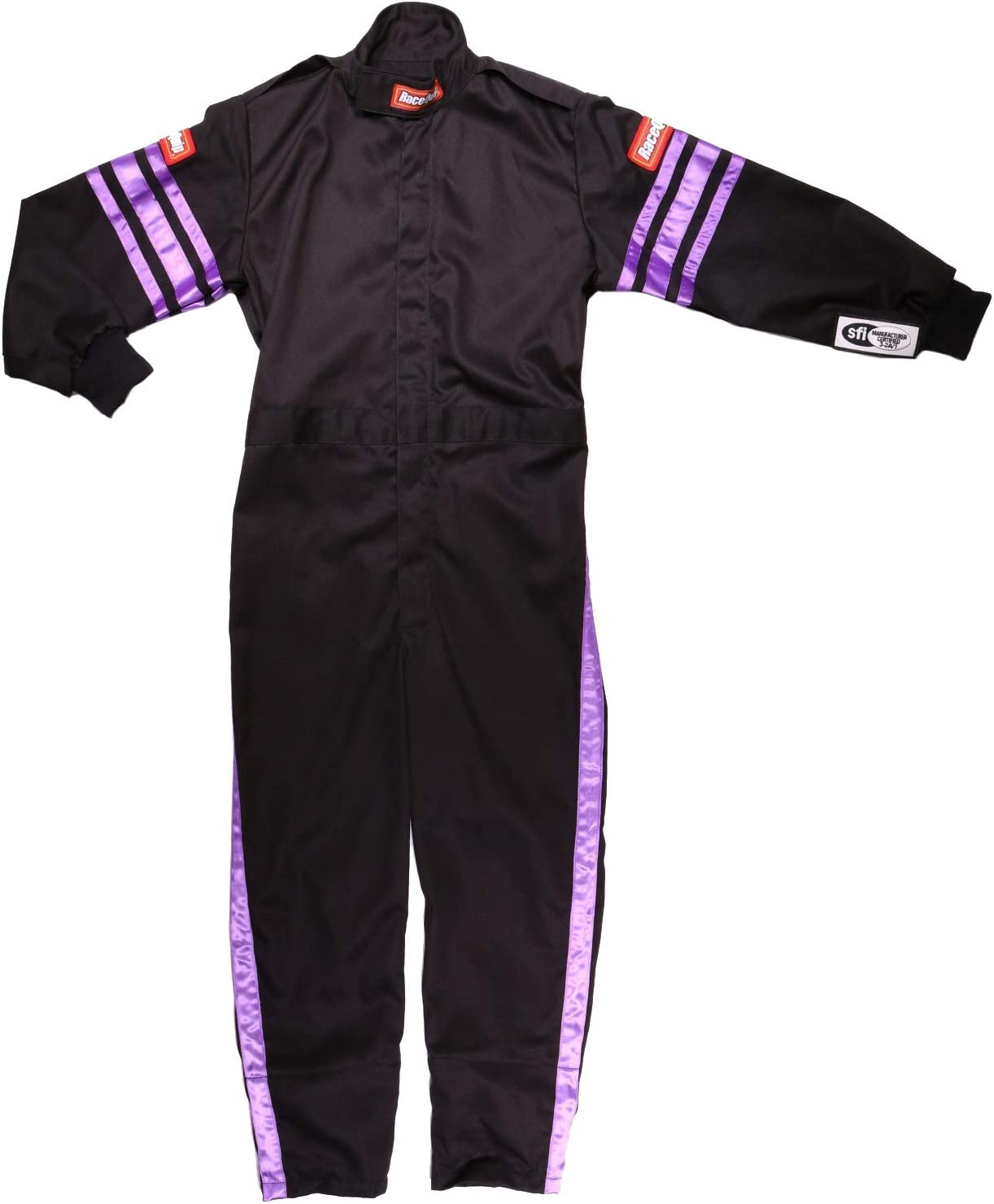 RaceQuip Unisex-Child Kids Single Layer Suit Black, XX-Large