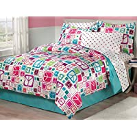 My Room Peace Out Girls Comforter Set With Bedskirt,...