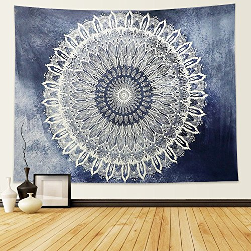 Large Tapestry Wall Hanging - Dremisland Indian Wall Decor Hippie Tapestries Bohemian Mandala Tapestry Wall Hanging Throw (L, Gradient Pattern)