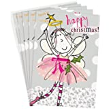 "Caroline Gardner Small ""Merry Christmas Fairy"" Christmas Card with Envelope"