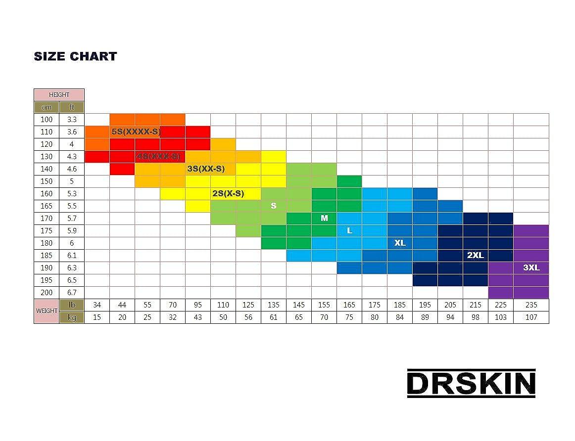 DRSKIN 2XL, MBB811 Tight 3//4 Compression Pants Base Layer Running Pants Men