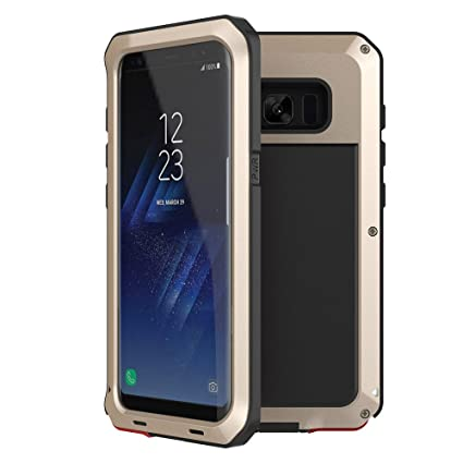 Amazon.com: Funda para Galaxy S8, Tomplus metálica, a prueba ...