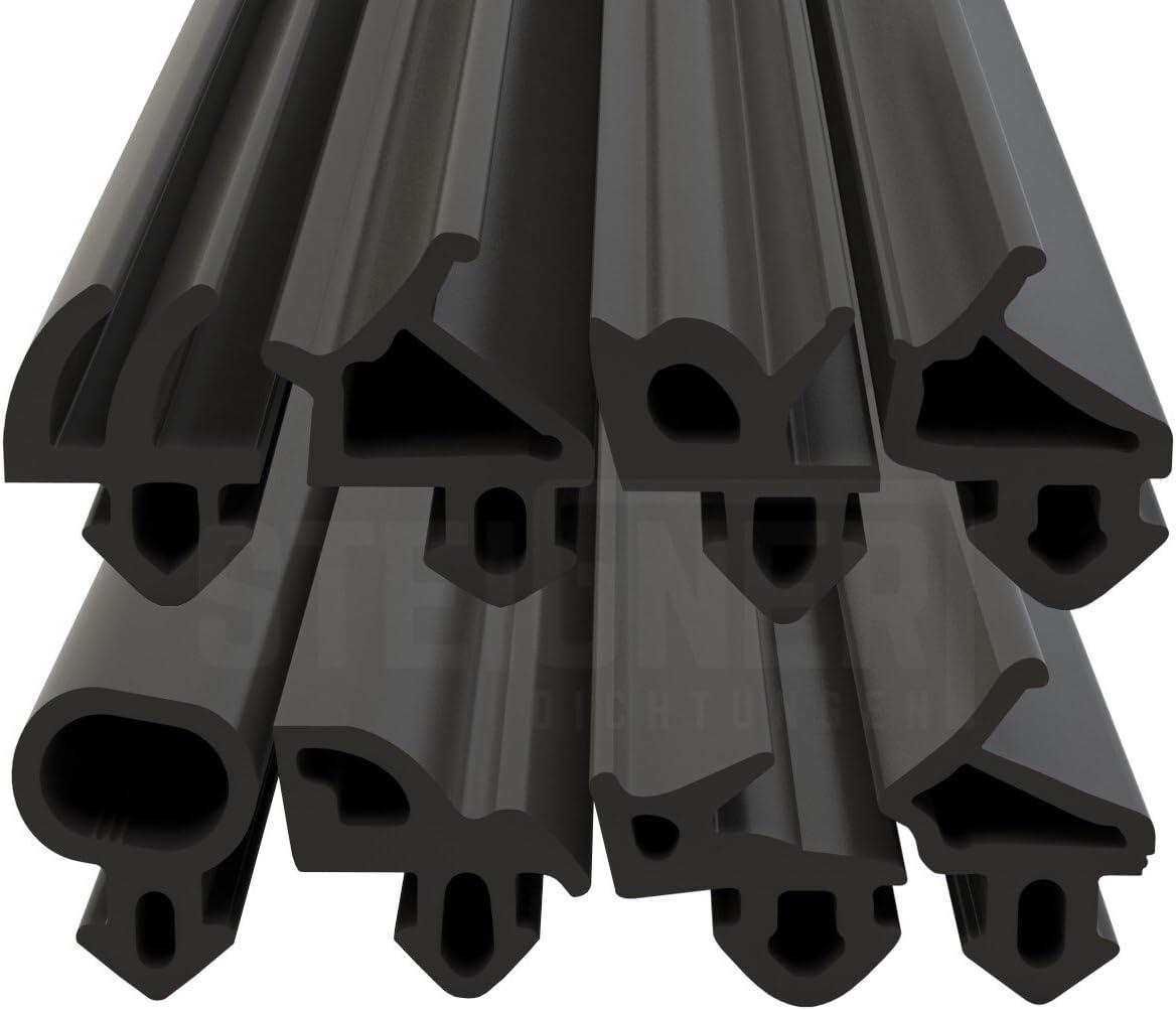 STEIGNER Guarnizione per Porta Finestra STD03 100 m 8 mm Marrone Guarnizione in Gomma Profilo per porte e finestre in Legno PVC Alluminio