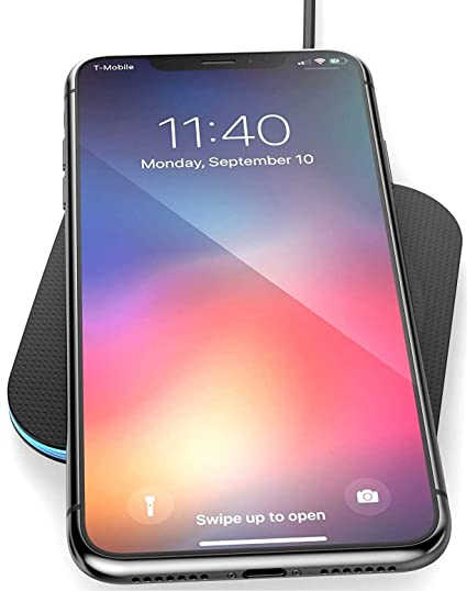 the best attitude 8353f 0afd2 Wireless Charger for iPhone Xs MAX (2018) - Encased Qi Enabled Rapid  Charging Pad (Case Friendly Design)