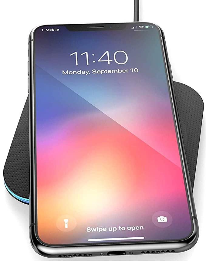 Amazon.com: Wireless Charger for iPhone XS MAX (2018) - Encased Qi Enabled Rapid Charging Pad (Case Friendly Design): Cell Phones & Accessories