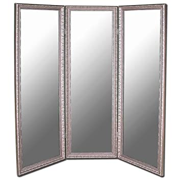 Amazoncom 3 Panel Folding Room Divider Mirror 72 X 74 inches