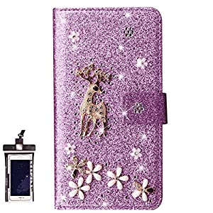 Flip Case for iPhone 6 Luxury Leather Wallet Cover with Viewing Stand and Card Slots Bussiness Phone Case with Free Waterproof-Case
