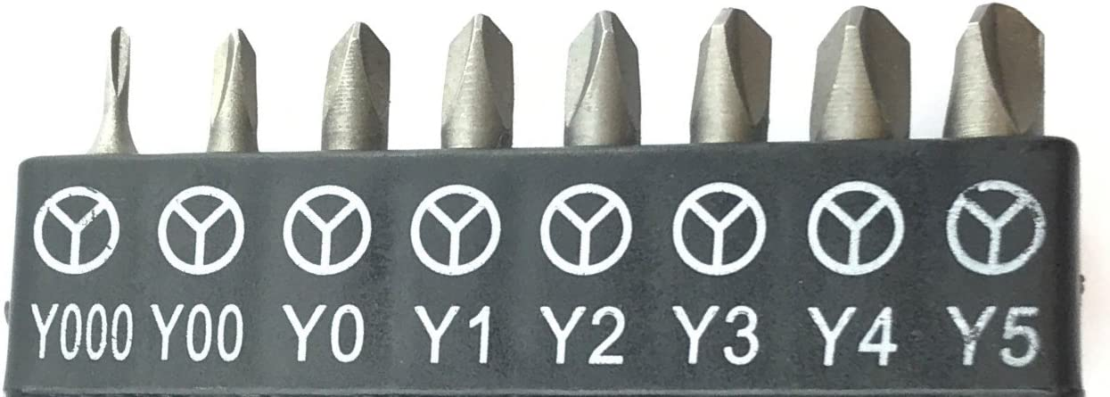 SET OF 4 TRI-WING BITS Y1 Y2 Y3 /& Y4 BIT TRIWING TRIANGULAR SLOTTED CR-V HEX