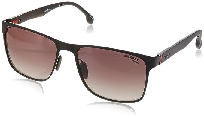 0f2e2b4dd81 Carrera Men s 8026 s Polarized Square Sunglasses Matte Brown 57 mm ...
